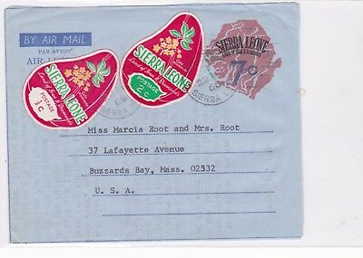 Sierra Leone / Airmail / Self Adhesive Stamps / Flowers / Stationery / Diamonds.
