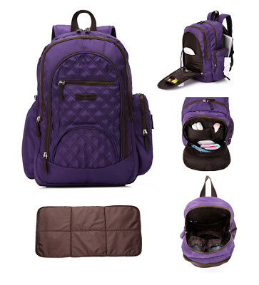 Multi-function Smart Backpack Baby Diaper Nappy Bag Changing Bag + Changing Pad