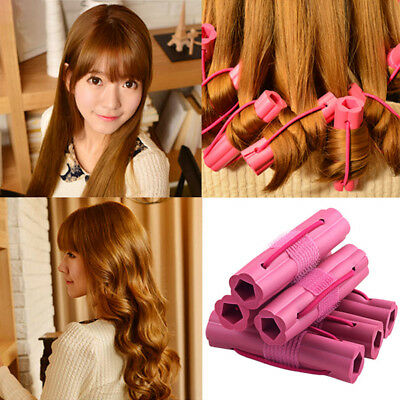 6Pcs Women Magic Sponge Foam Cushion Hair Styling Roller Curler Twist Salon Tool