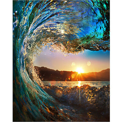 Sunset Wave Seascape Canvas Paint By Numbers Kit Oil Painting Kit DIY Art