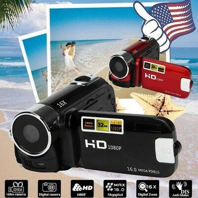 "Full HD 1080P 16M 16X Digital Zoom Video Camcorder Camera DV 2.7"" TPT LCD Camera"