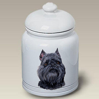 Ceramic Treat Cookie Jar - Black Brussels Griffon (LP) 45128