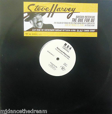 "RAHSAAN PATTERSON ~ The One For Me ~ 12"" Single PS PROMO USA PRESS"