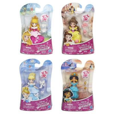 "Disney Princess Little Kingdom Snap In Fashion 3"" Hasbro Dolls"