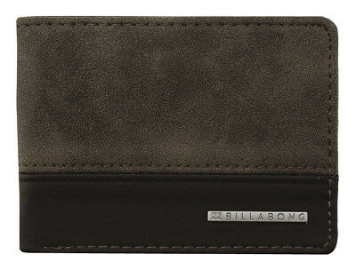 Brand New + Tag Billabong Mens / Boys Dimension Tri-Fold Pvc Wallet Brown Surf