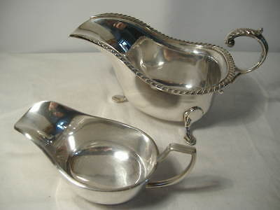 Large Silver Plated Gravy/sauce Boat & A Smaller One