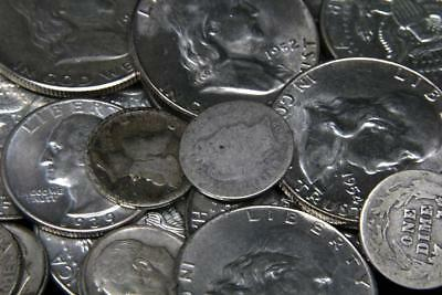 $5.00 Face Value of 90% Junk Silver American Coins.