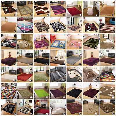 Massive Stock Clearance Small Large Sale Modern Quality Shaggy Flair Rug Runner