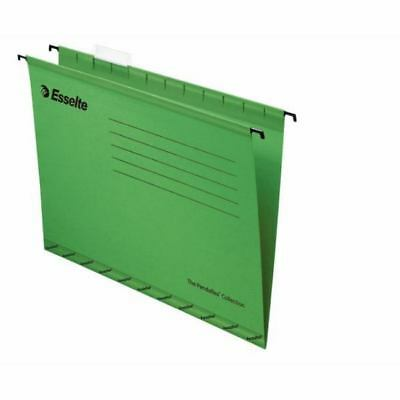 Esselte 90337 -  Classic Suspension File Foolscap Green (PK25)