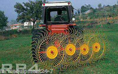 "Sitrex 4 Wheel 3-Point Hay Rake, 8'-9"" Working Width:FreeShippingToSelectStates!"