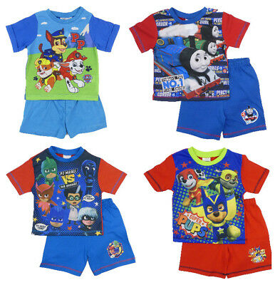 Boys Toddler Character Pyjamas Shorts T-Shirt Sets 12-18 Months To 4-5 Years