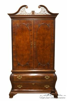 "CENTURY Mahogany Chippendale Style 48"" Clothing Armoire"