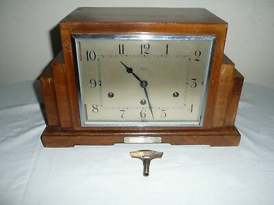 Superb Art Deco Westminster Chimes Mantle Clock, Clarion Clock Co, London.