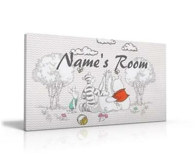 PERSONALISED DOOR SIGN / NAME PLAQUE - Classic Winnie The Pooh  FREE P&P