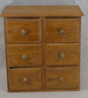 antique drawers sm pine storage spice country cabinet primitive 15 x 8 original