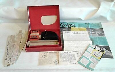 Vintage 1950s Eagle Comics Cine Projector With Films & Papers ~ Working Dan Dare
