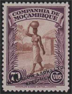 Mozambique Co. 1937 70c Nude Woman Waterlow color sample in brown & purple