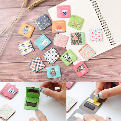 1Pc Cartoon Magnetic Bookmarks Note With Memo Pad Stationery Book Mark ATAU