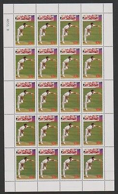 St Vincent Grenadines - 1988, 45c R.J Hadlee Cricketer sheetlet - MNH - SG 574
