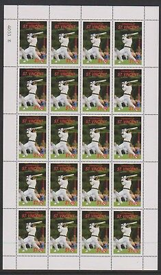 St Vincent Grenadines - 1988, $1.50 A.R Boarder Cricketer sheetlet -MNH - SG 577