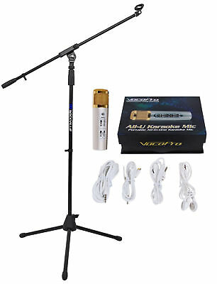 Vocopro ALL-U-KARAOKE-MIC 3.5MM Tablet/Smartphone YouTube Microphone+Stand