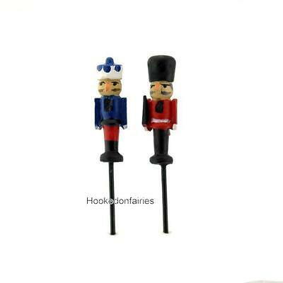 Nutcracker Set of 2 Assorted Micro Mini GO 17531 Miniature Fairy Garden