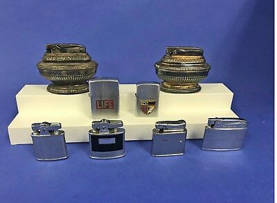 Vintage Lot of 8 Cigarette Lighters: Zippo, Ronson, Colibri, Vulcan, Brother