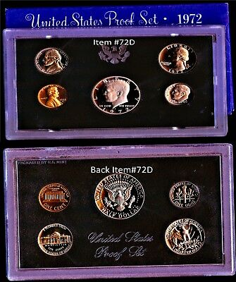 1972 S (1) ONE LOT or SET = *5*  PROOF COINS ORIGINAL MINT PACKAGING