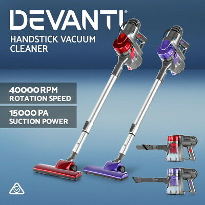 Devanti Corded Stick Vacuum Cleaner Handheld Handstick Vac Bagless Upright Light