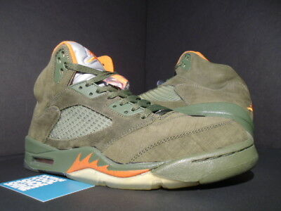 cheap for discount 17ba3 3b565 06 NIKE AIR Jordan V 5 Retro Ls Army Olive Green Orange Undefeated  314259-381 10
