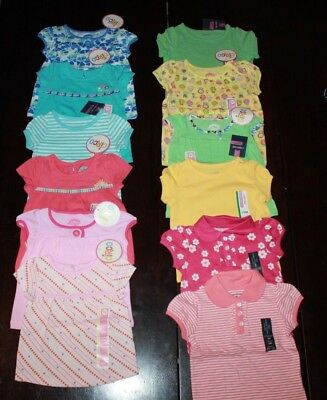 New Toddler Girls Dress T Shirts Tee Beach Sea Anchor Flower Outfit 2T 3T 4T 5T