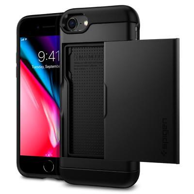 Spigen® [Slim Armor CS] Card Holder Cover Shockproof Case Apple iPhone 8 / 8Plus