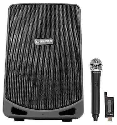 """Samson Expedition XP106W 6"""" Portable Rechargeable Powered PA DJ Speaker+Mic"""