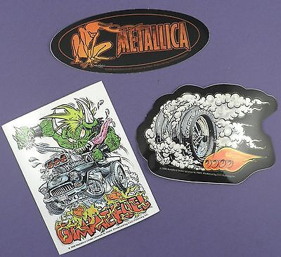 Metallica -Official Merchandise Unused Stickers 1998- Gimme Fuel, Fully Loaded