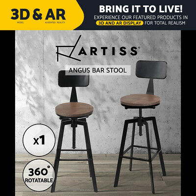 Artiss Rustic Bar Stools Retro Bar Stool Industrial Dining Chairs Kitchen Metal