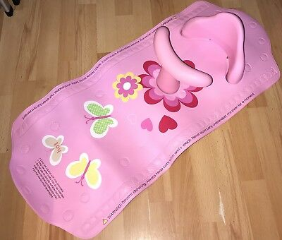 Mothercare Aqua Pod Baby Bath Support Bath Mat and Safety Seat - Pink