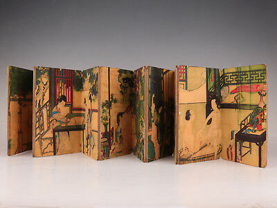 Paper Book Old Manual Painting Men Women Action Post Handicraft Collection