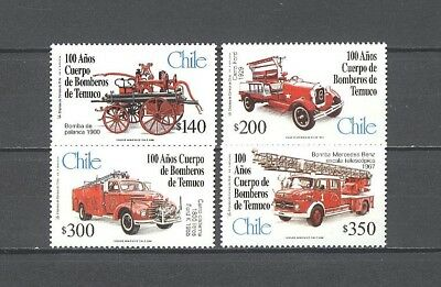 Automobile, Cars, Oldtimer, Feuerwehr - Chile ** MNH 1999
