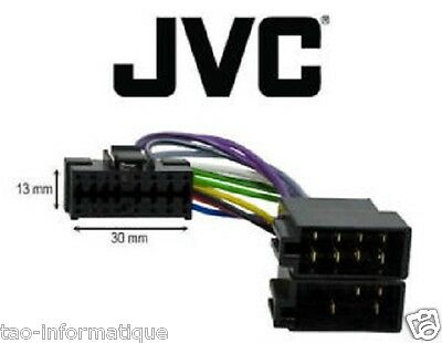 Cable adaptateur ISO autoradio JVC KD-G400 KD-G421 KD-G431 KD-G432 KD-G441