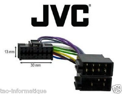 Cable adaptateur ISO autoradio JVC KD-G531 KD-G541 KD-G631 KD-G632 KD-G700