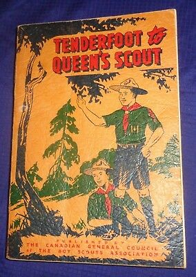 BG695 Vtg 1955 Canadian Boy Scout Handbook Tenderfoot To Queen's Scout
