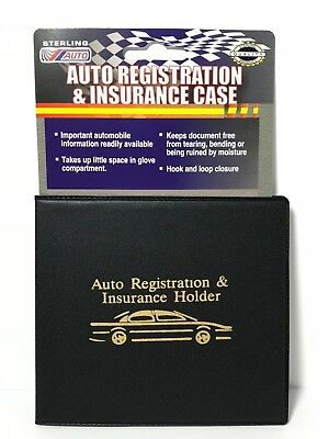 Slim Thin Wallet Holder For Auto Car Insurance Registration ID Card Case