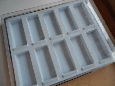 "1 plastic storage box with 10 sections for Real Life "" Bugs and Insects """