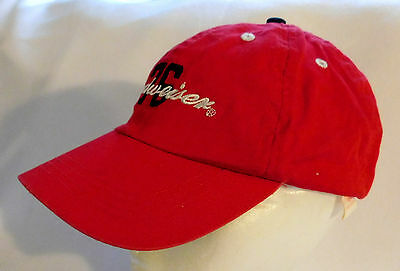 Budweiser Baseball Cap Hat 76 Anheuser-Busch Red Snapback Adjustable Velcro