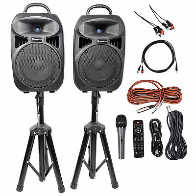 "Rockville Dual 8"" Android/iphone/ipad/Laptop/TV Youtube Karaoke Machine/System"