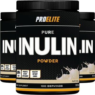 Inulin Powder 500g 100% Pure Chicory Root FOS Probiotic Fructo-Pro Elite