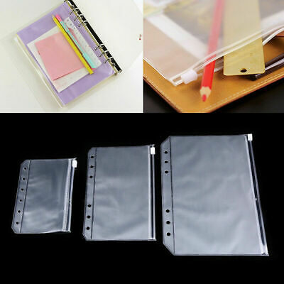 A5/A6/A7 Zippered Clear Envelope Official Document File Bag Transparent Pocket