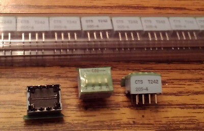 Lots of 45: CTS 205-4 :: 4 Pin DIP Switches :: FREE Shipping