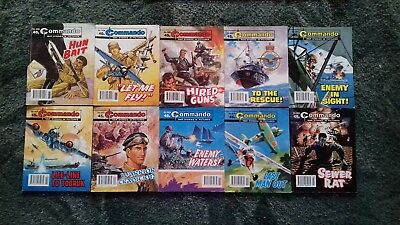 10 X Commando War Stories In Pictures,war Comics,bulk Lot Collection,4
