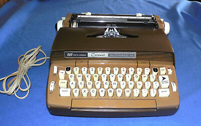 Vintage Scm Smith-Corona Coronet Automatic 10 Electric Typewriter W/ Case & Key